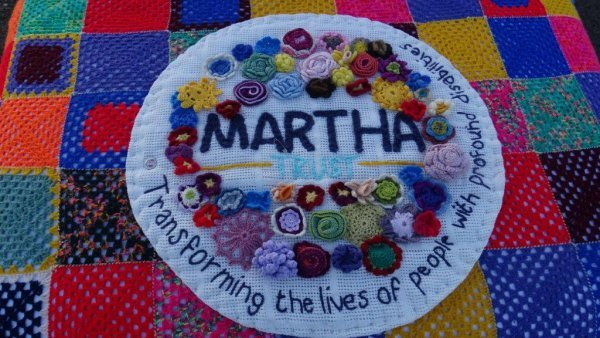 Martha Trust Rome or Bust Knitted Logo